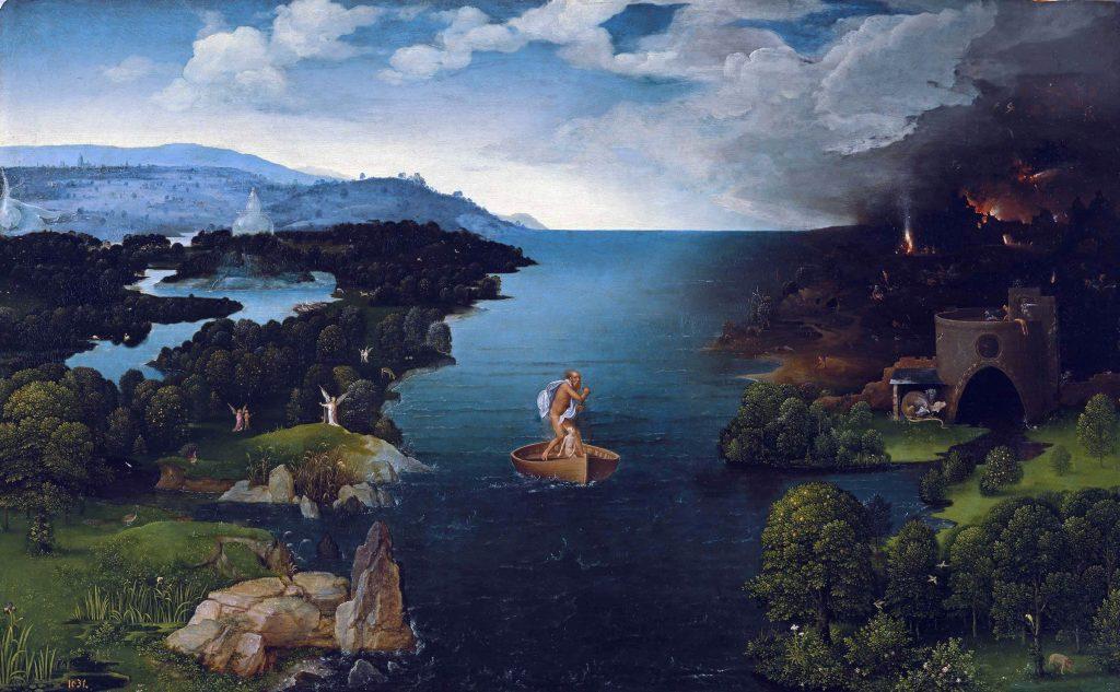 Caronte atravesadno la laguna Estigia. Madrid. Museo del Prado