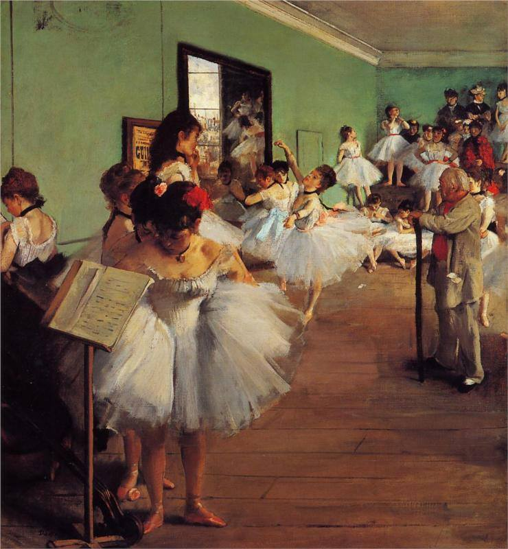 Edgar Degas La clase de baile