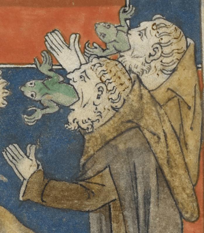 British Library, Royal 19 B XV, detaille de f. 30v (Siglo XIV)