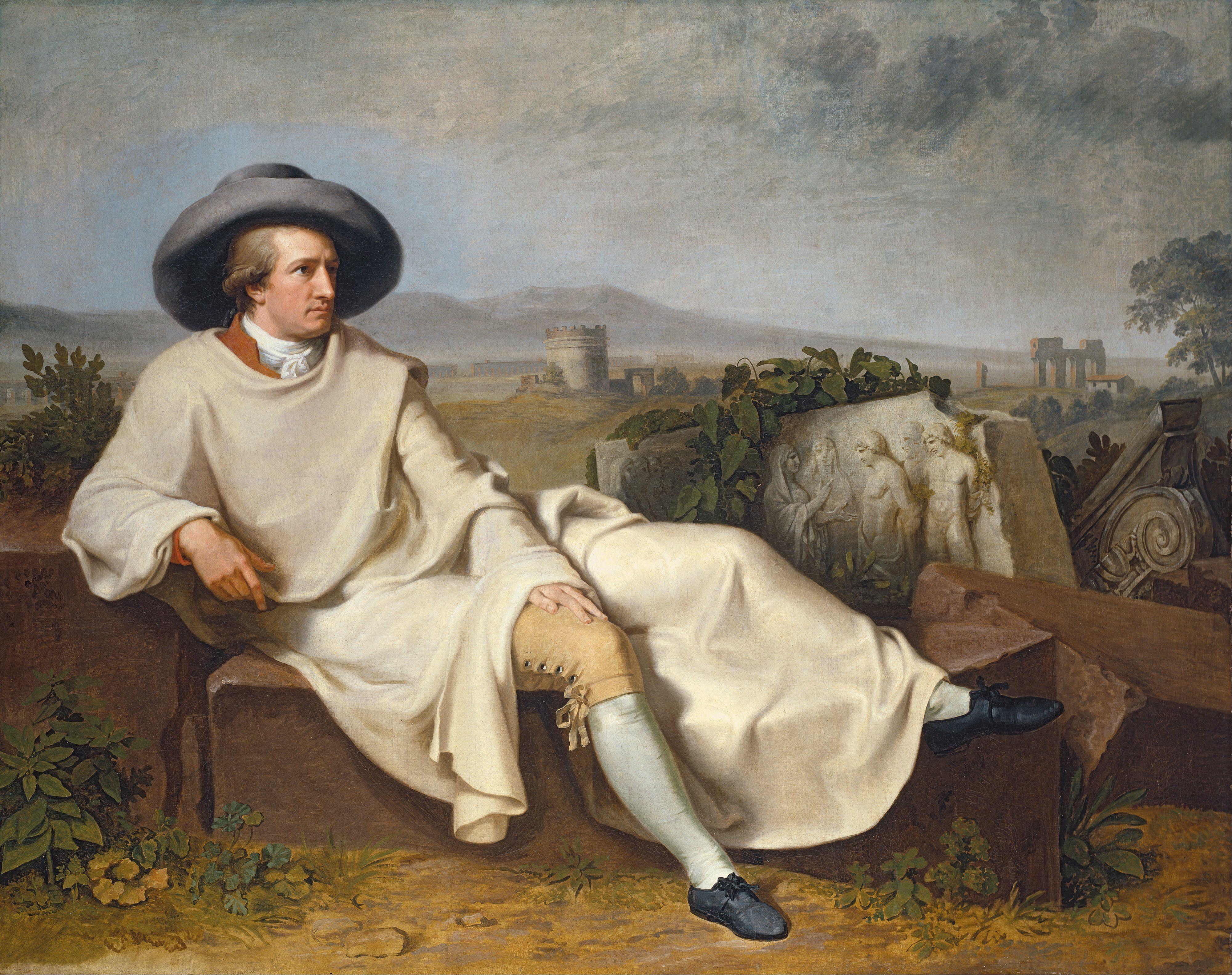 """Goethe in the Roman Campagna"""" por Johann Heinrich Wilhelm Tischbein"""