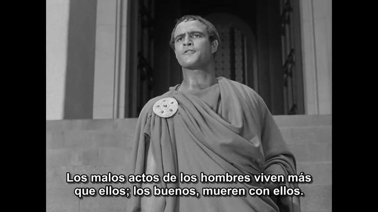 Marlon Brando en Julio Cesar
