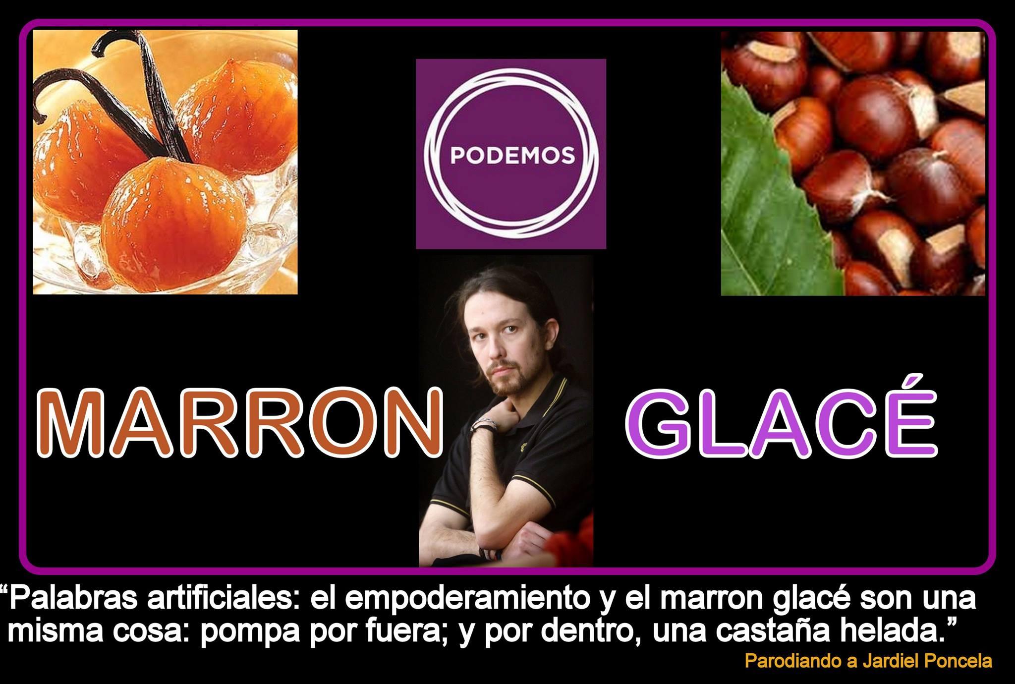 Pablo Iglesias y el marrón glacé