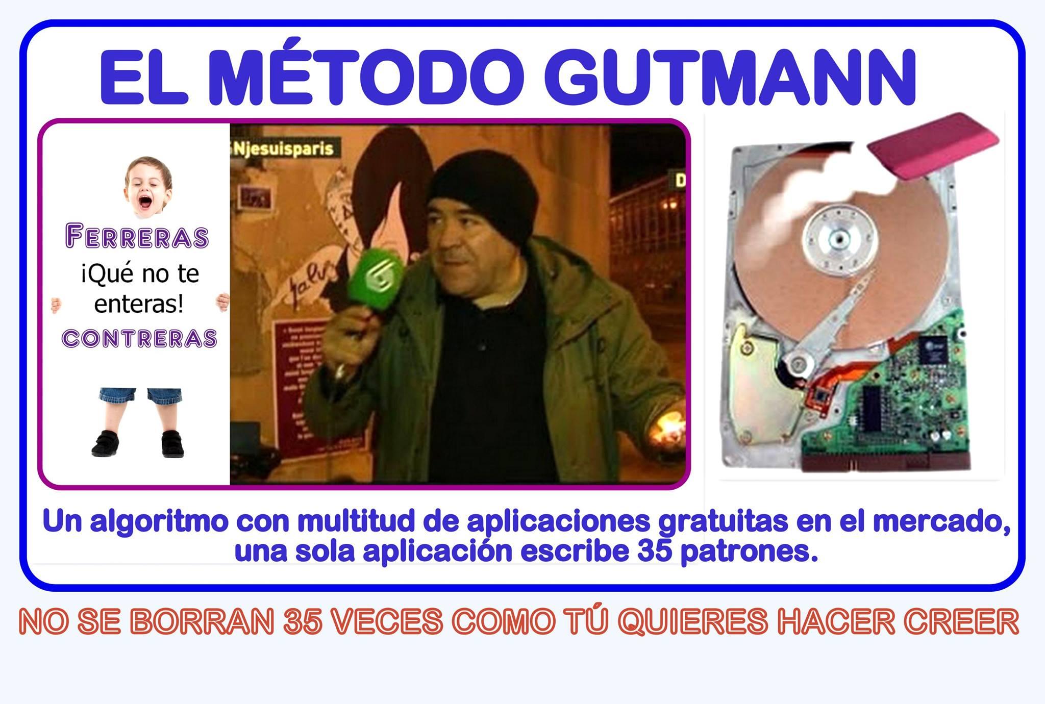 El método de borrado seguro Gutmann