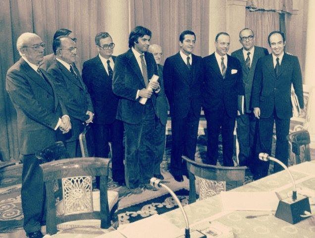 la firma de los Pactos de la Moncloa