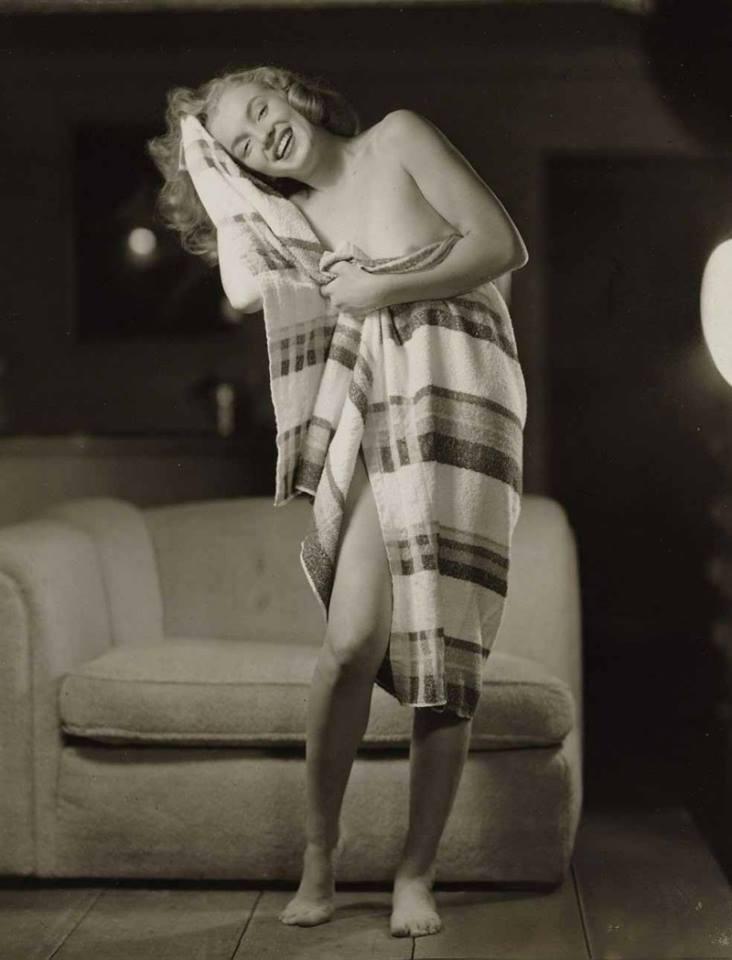 Marilyn después de la ducha