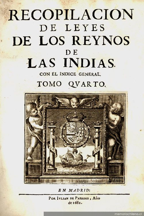 Leyes de Indias, al Libro IV