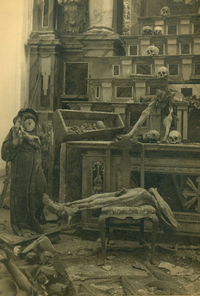 Profanación de tumbas y destrucción de la Iglesia de San Miguel el Alto de Toledo