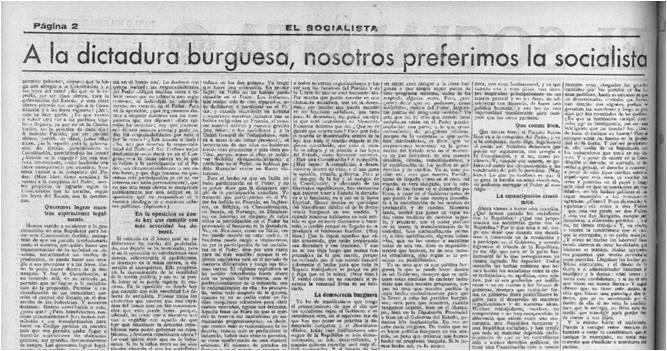 Segunda página de la edición de El Socialista,