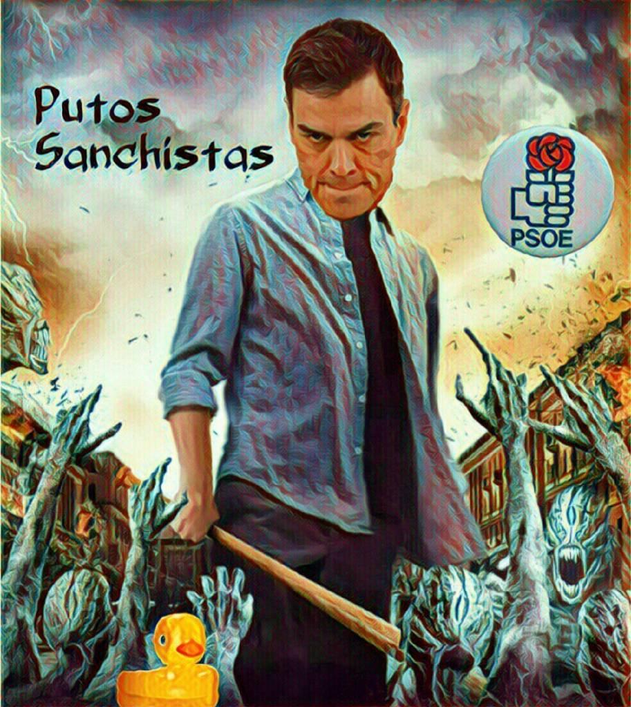Pedro Sánchez Preparando el PSOE para la negociación con Podemos. Ilustración de Linda Galmor.