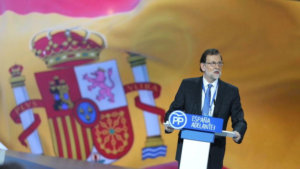 Mariano Rajoy el día que fue reelegido presidente del PP.