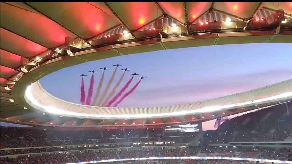 Fiesta Estadio Wanda Metropolitano. Patrulla águila