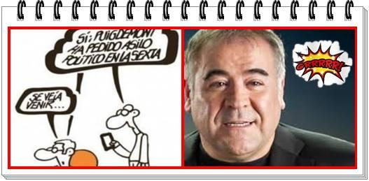 Ferreras concede asilo político a Puigdemont en LaSexta