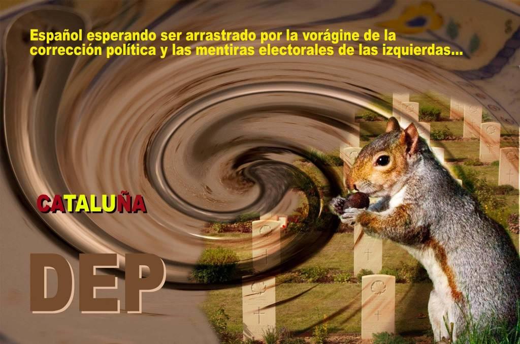 Los españoles devorados por la corrección política. Ilustración del autor Rodolfo Arévalo