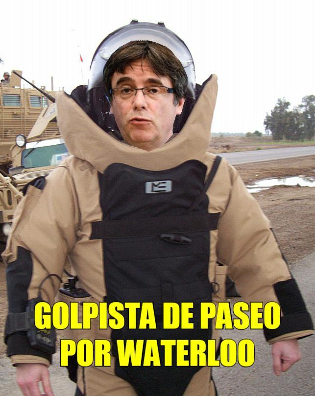 El Puigdemont, empeora de su paranoia gilipollas...Por Juan Padrón Sabina