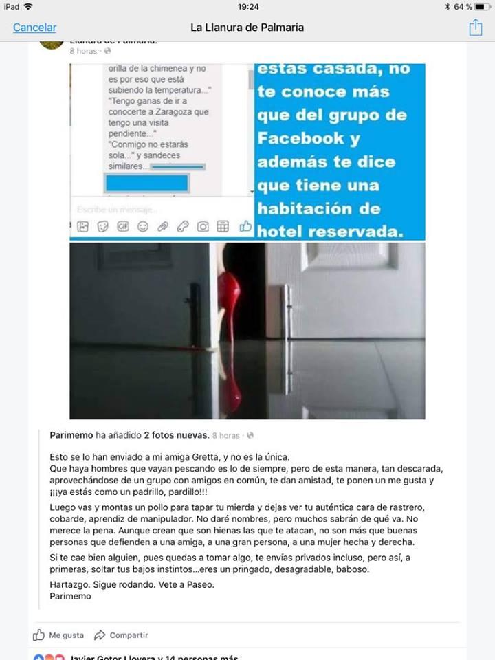 Acusaciones veladas contra el honor publicadas en La Llanura de Palmaria