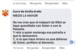 Curro de Utrilla, fundador de Palmaria, niega la mayor