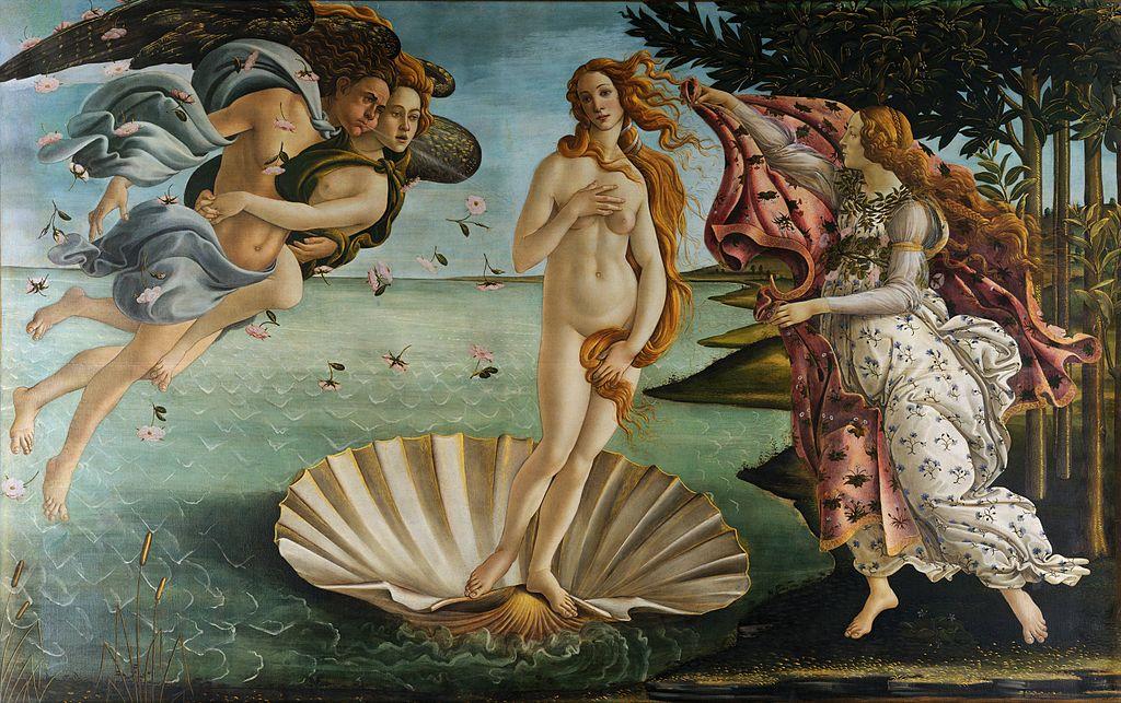 El nacimiento de Venus de Botticelli