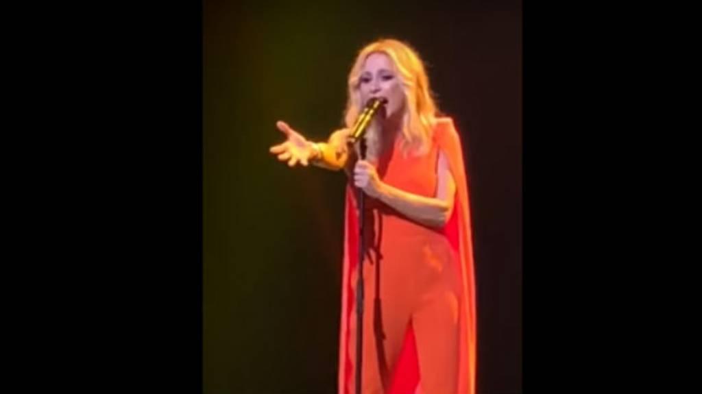 Marta Sánchez canta el himno de España con una letra creada por ella