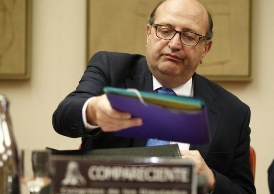 Ramón Álvarez de Miranda, presidente del Tribunal de Cuentas, durante su comparecencia
