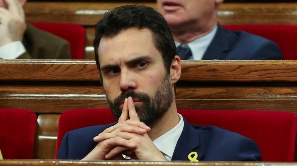 Roger Torrent (ERC) presidente del parlamento de Cataluña