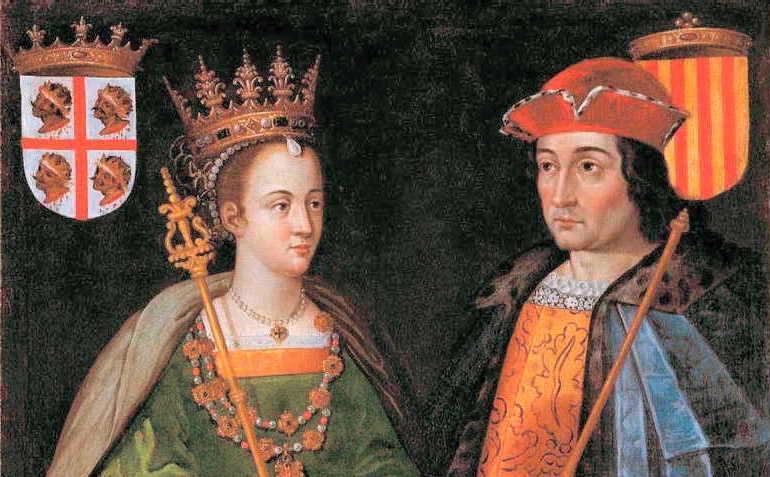 la Reina Petronila I y el conde de Barcelona Ramón Berenguer IV