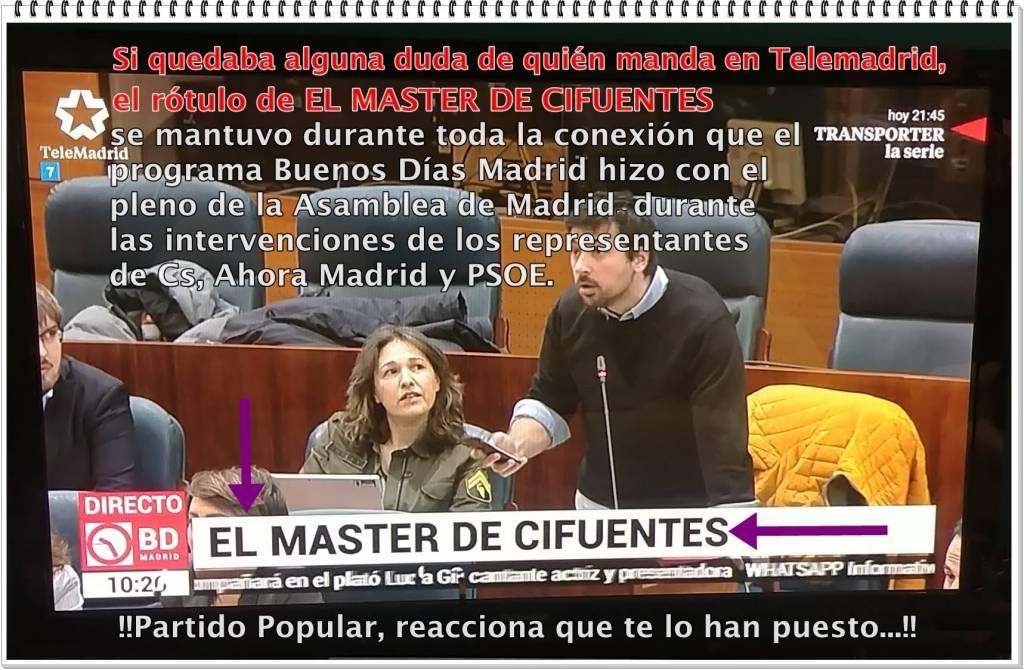 ESCANDALAZO EN LA TELEVISIÓN PÚBLICA MADRILEÑA
