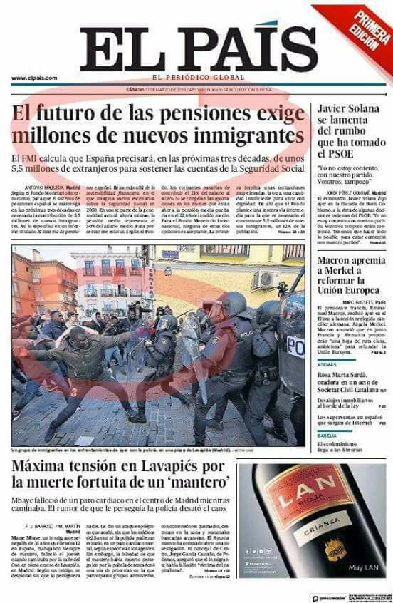 El País sábdo 17 de marzo 2018
