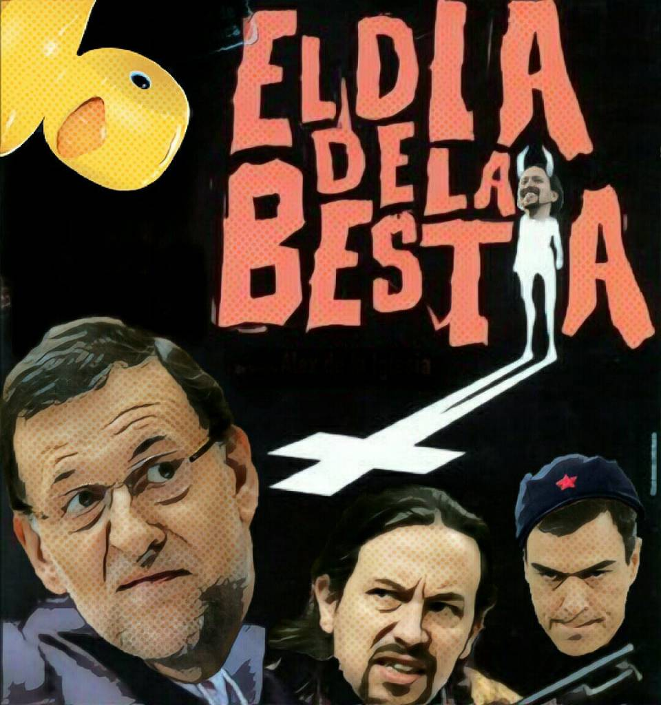 Ganaron los malos gracias al PNV, PSOE y Podemos. Ilustración de Linda Galmor
