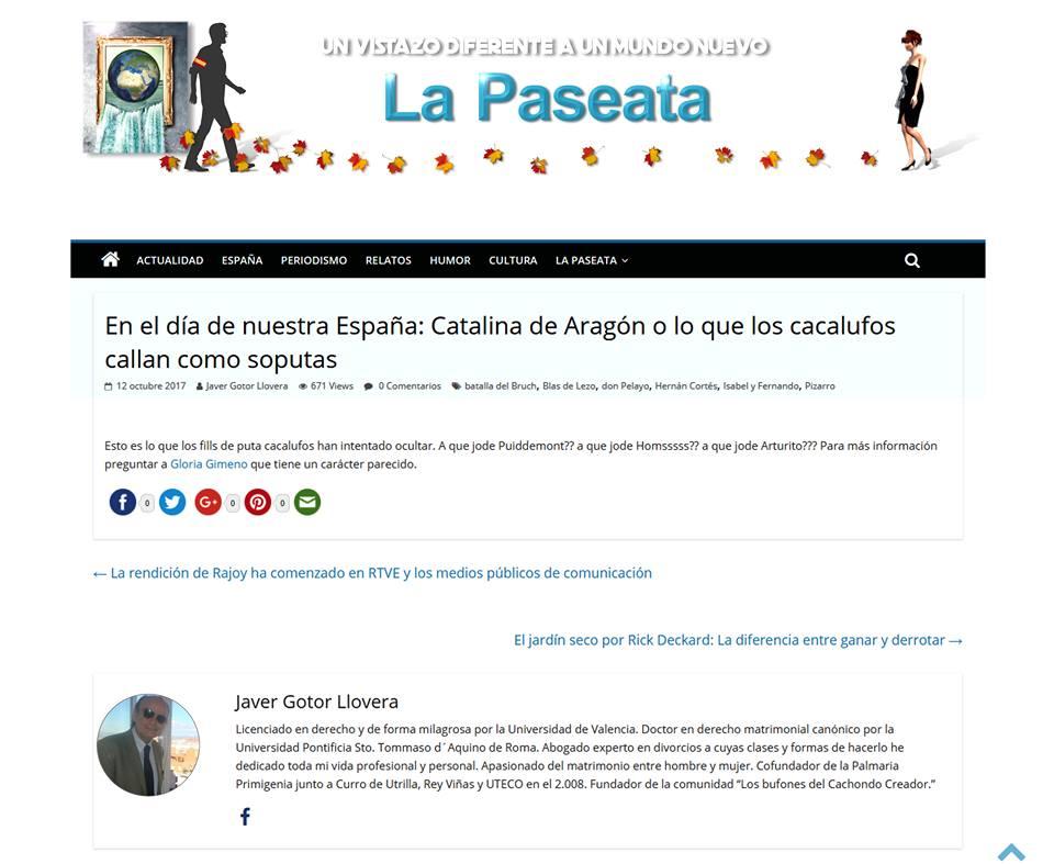 Javier Gotor en La Paseata