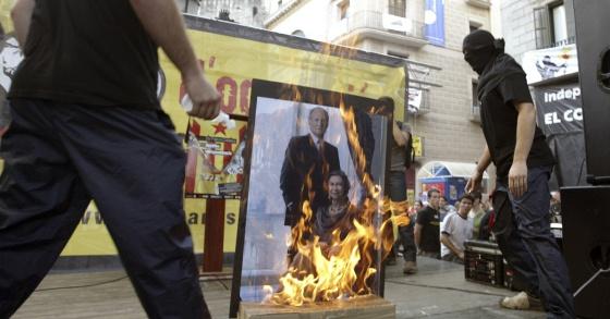 La Audiencia Nacional sentenció la quema de fotos del Rey durante la Diada
