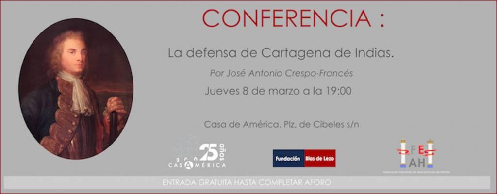 Conferencia presentación sobre la defensa de Cartagena de Indias en 1741