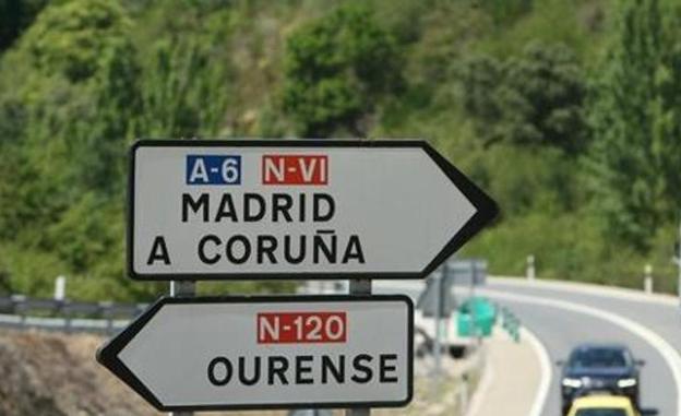 en época de Aznar fue cuando se puso en gallego el indicador de salida de Madrid en la Autopista A6
