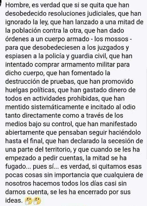 tenemos una casta política cobardona, miserable sin visión de estado y que se comportan como buitres con el resto de españoles