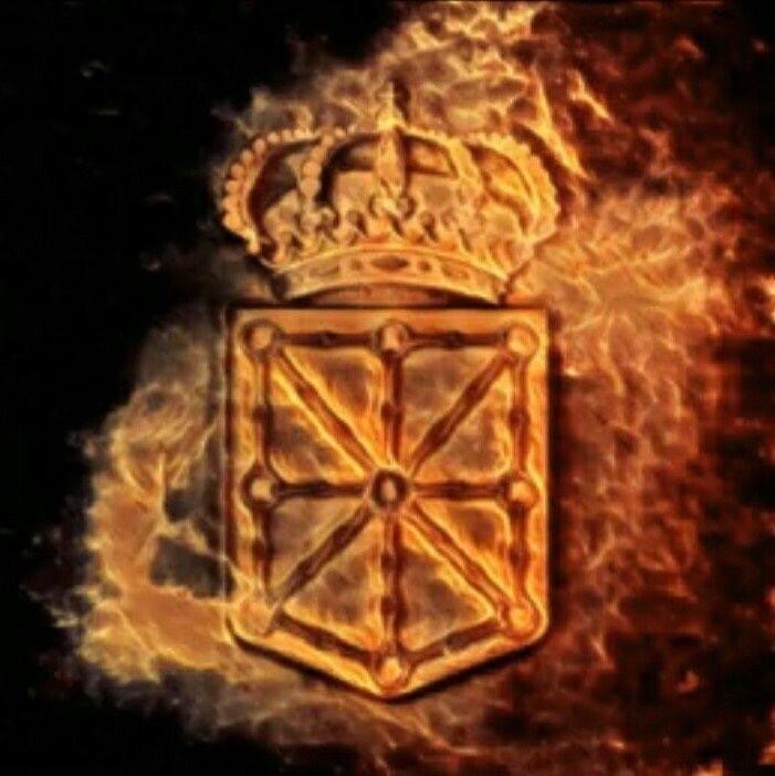 El escudo de Navara en llamas