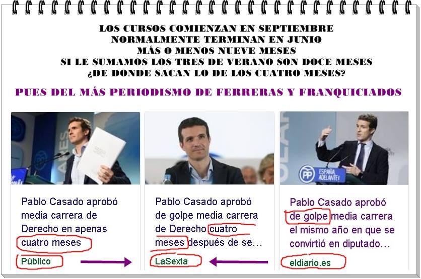 El más periodismo de Ferreras y franquicidados