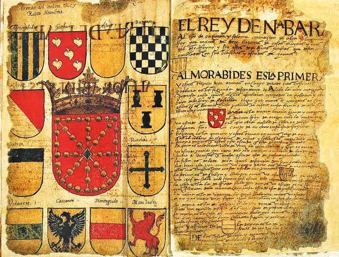 El moderno escudo en el Libro de Arrmería Navarra