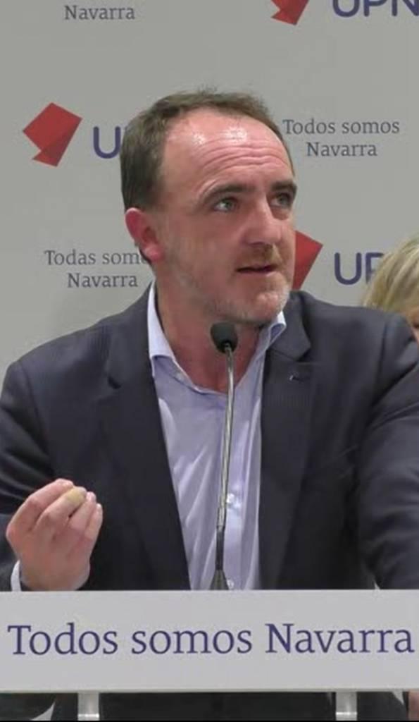 José Javier Esparza, PTE DE Unión del Pueblo Navarro