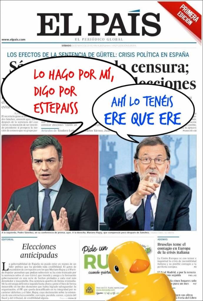 La mierda política enmierda España. Linda Galmor