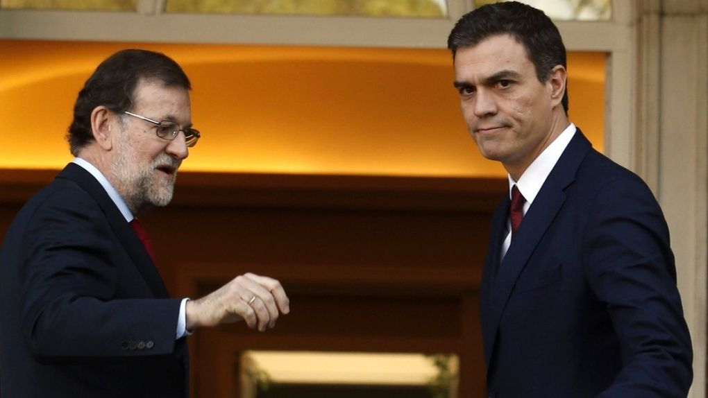 Mariano-Rajoy y Pedro-Sanchez en la Moncloa
