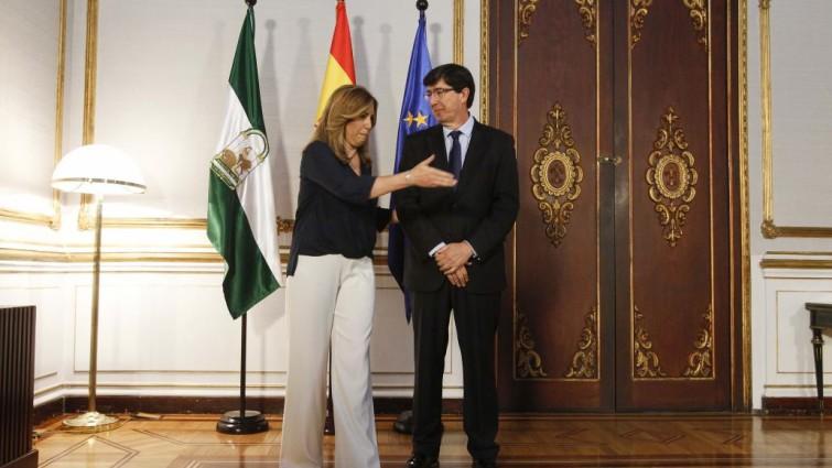 Susana Díaz y Juan Marín en el Palacio de San Telmo