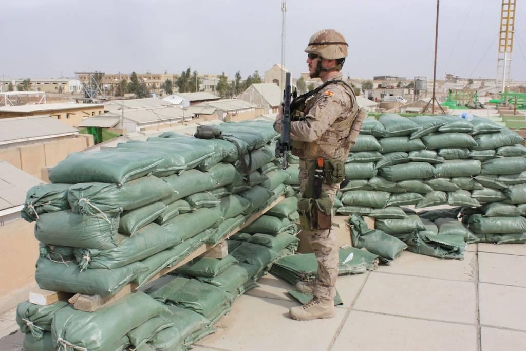 Uno de los militares españoles desplegados en Irak