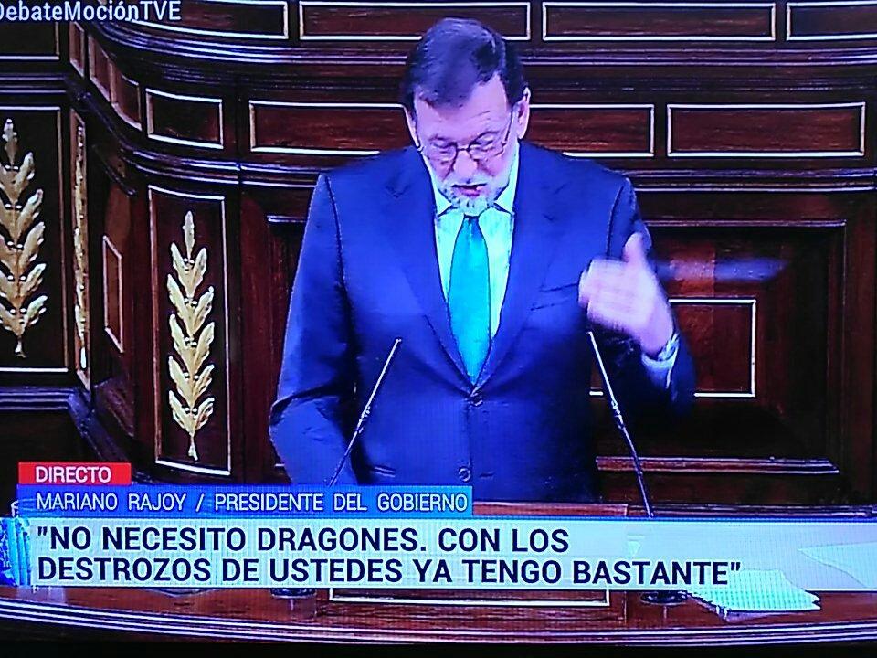 Mariano Rajoy el hasta ayer presidente del gobierno de España, ha salido derrotado de la moción de censura