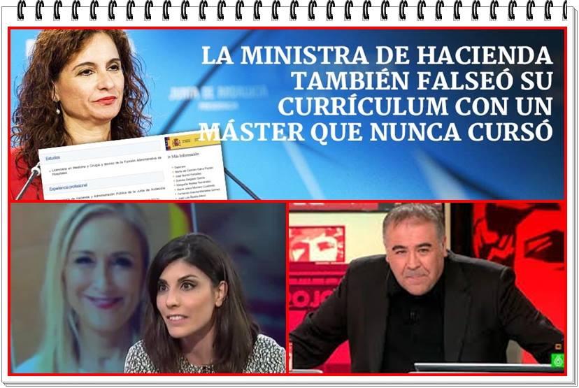 María Jesús Montero, falseó e infló su currículum en su etapa en la Junta de Andalucía al atribuirse un máster que no existe