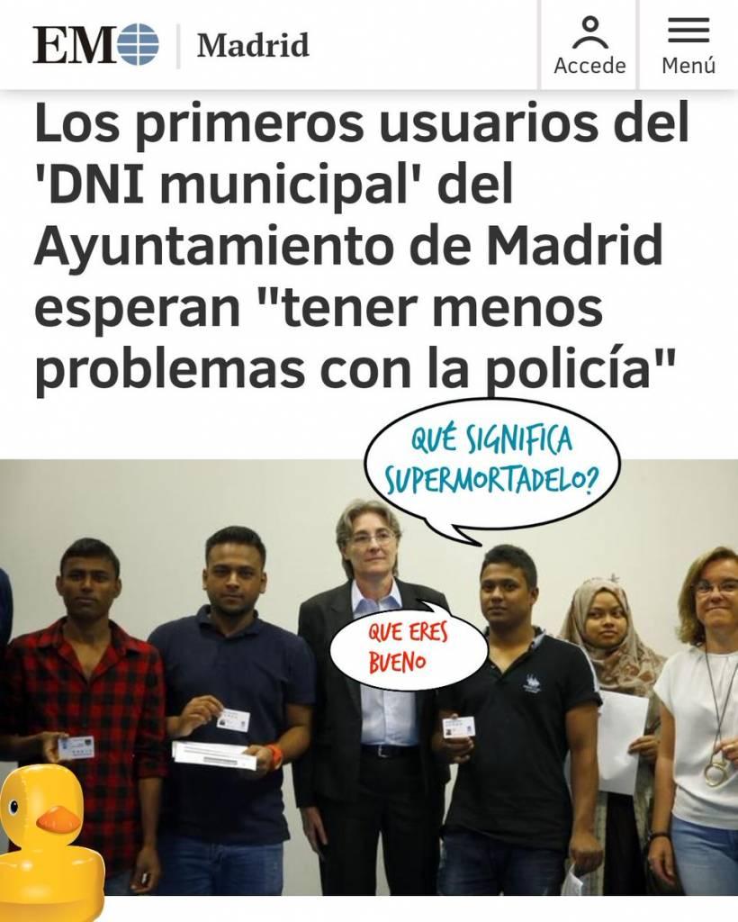 El ayuntamiento podemitero de Madrid engaña a los inmigrantes con un falso DNI. Linda Galmor
