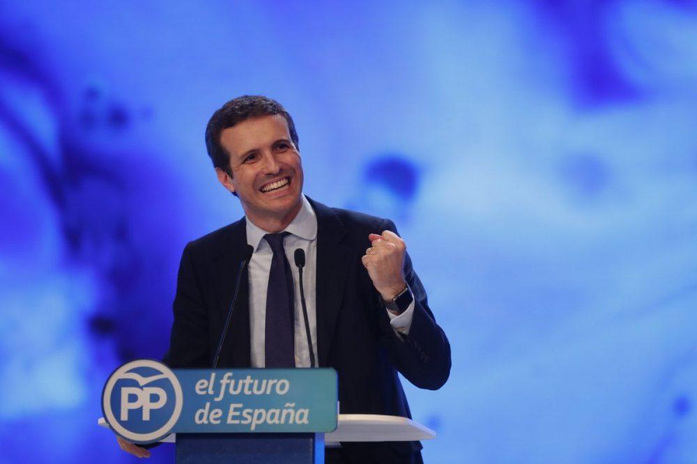 Pablo Casado en un momento de su discurso