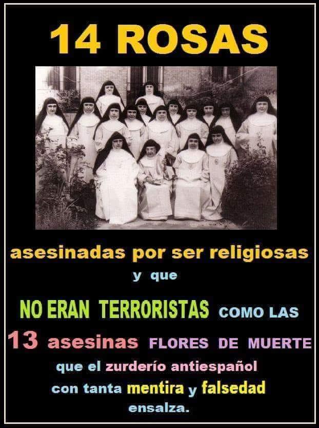 Catorce lirios inocentes cuyo único delito fue dedicarse a la oración por los demás