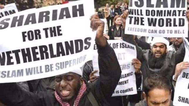 Musulmanes en Holanda se manifiesta a favor de la Sahria