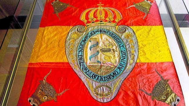 En el Congreso de los Diputados se conserva esta bandera bicolor de la milicia de Cabezas de Buey de 1813 - abc