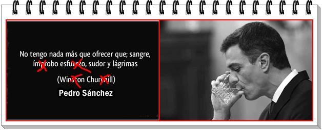 No tengo nada más que ofrecer. Pedro Sánchez