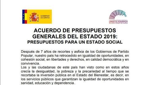 Acuerdo presupuestario entre el Gobierno y Podemos. Quid Pro Quo